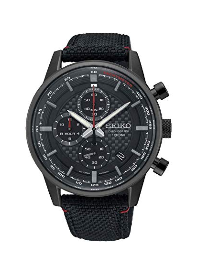 Black Dial Analog Watch from Seiko