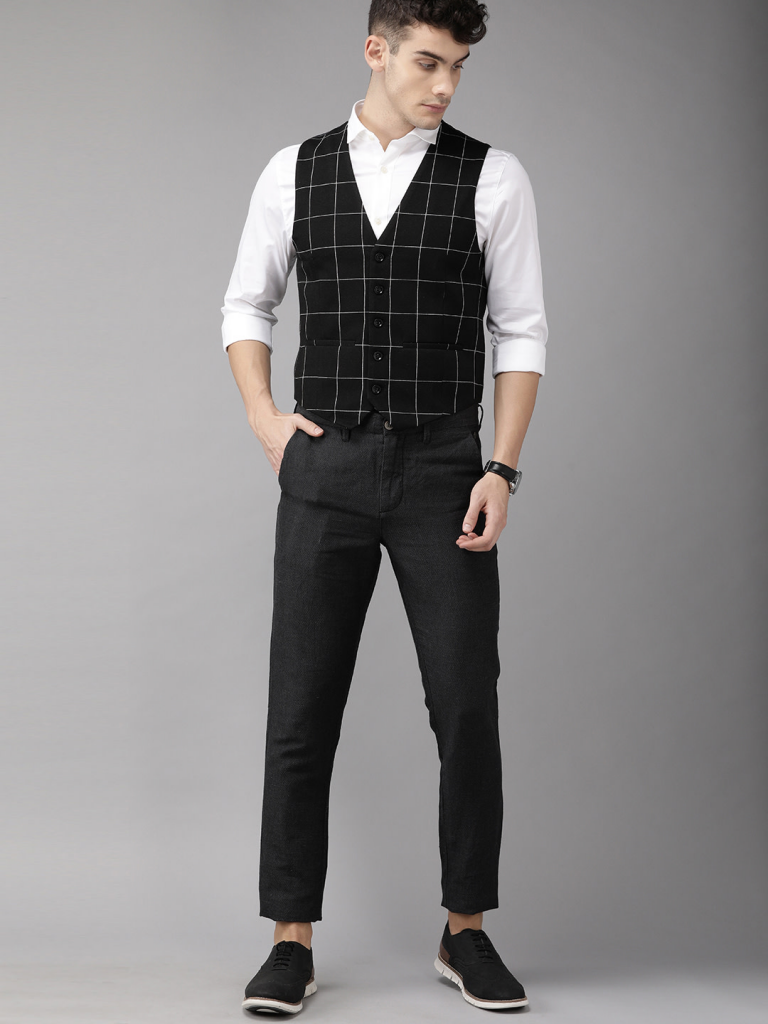 Casual suit vest available on Myntra iss one of the top men's vest styles