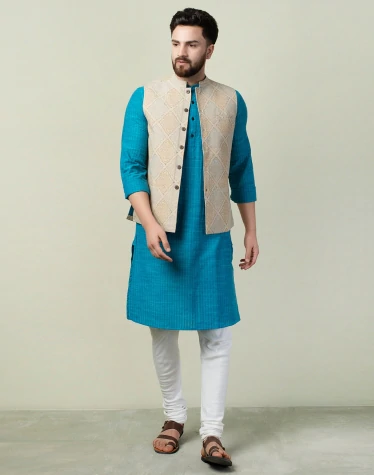 A classic Nehru vest is one of the top men's vest sty;les