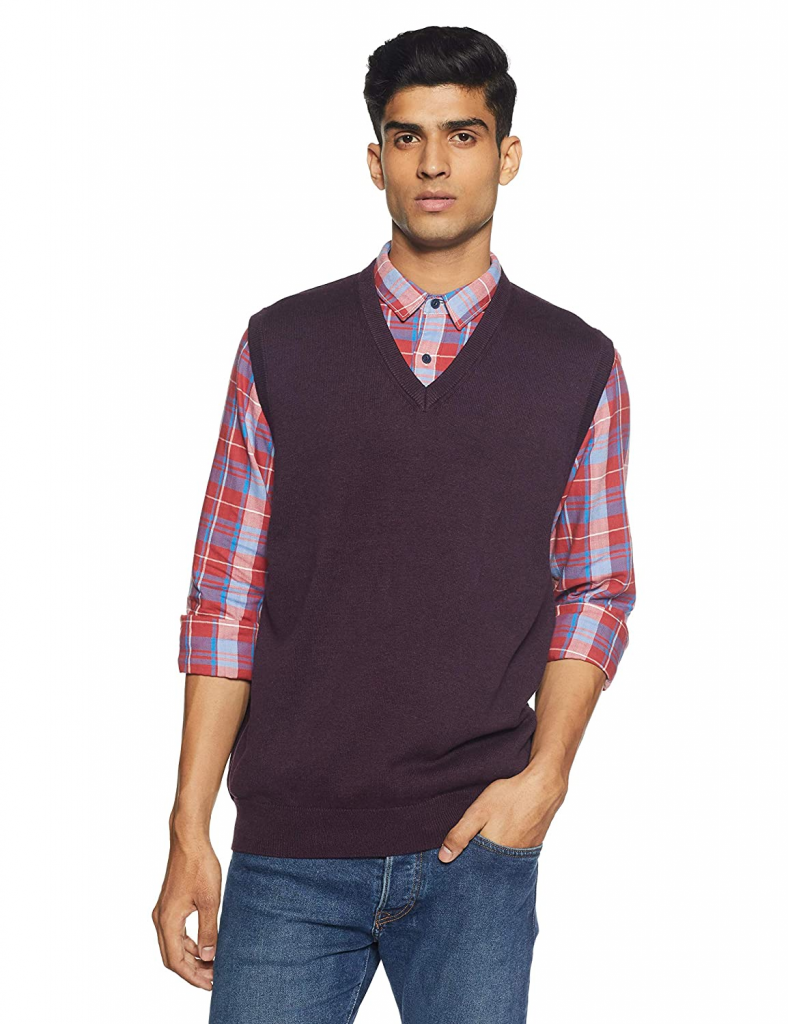 Sweater vest for men from Marks and Spencer's available on Amazon is one of the top men's vest styles