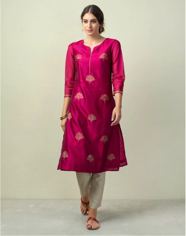 Cotton silk zari kurti_wedding trousseau packing